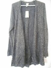 NWT Chico's Size 3 (XL/16) Blue Silver Open Sweater Cardigan