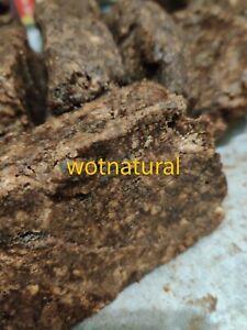 100% Raw Organic Unrefined African Black Soap Body, Face Hair Nigeria ~ 450g