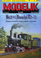 ORIGINAL PAPER-CARD MODEL KIT - Bn2t + t Henschel T2-71