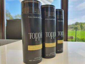 3x Toppik Hair Building Fibers Haaraufbau-Fasern   Light Blonde 27,5g