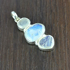 925 Sterling Silver Rainbow moonstone gemstone Pendant fine jewelry 3.93 g