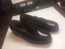 Florsheim Burgundy Leather Penny Loafers Moc Toe Dress Shoes Mens 8.5 D # 30253