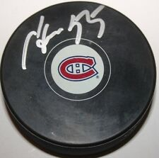 Sergei Gonchar signed Montreal Canadiens Puck w/ case COA