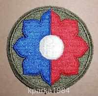 WW2 ERA US ARMY NINTH INFANTRY DIVISION INSIGNIA PATCH