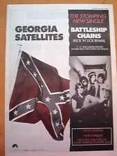 "GEORGIA SATELLITES Battleship Chains 1987 UK Poster size Press ADVERT 16x12"""