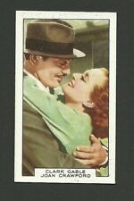 Clark Gable Joan Crawford Vintage Gallaher Tobacco Cigarette Movie Film Card