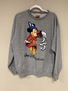 Vintage Walt Disney Sweatshirt Mickey Mouse LARGE Streetwear Rare 90's