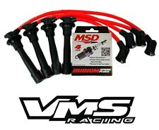 VMS RACING RED IGNITION WIRES + MSD SPARK PLUGS FOR 96-00 HONDA CIVIC D16Y8