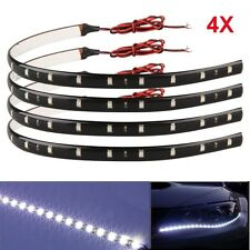 4X 15 LED Flexible Strip Light 3528 SMD IP65 Waterproof 12V Car Home 30cm White