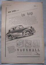 1949 Vauxhall Original advert No.5