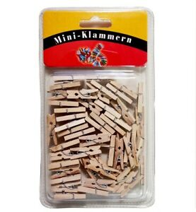 40 Stk. Mini Holz Klammern Clip Wäscheklammern Deko Klammer Mini Klammern NEU!!!