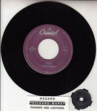 "RICHARD MARX  Hazard 7"" 45 rpm vinyl record + juke box title strip RARE!"