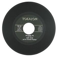 GENE ALLEN &  CHEROKEE PLAYBOYS Oklahoma Gal/Secret Love Affair 7IN VG++