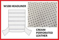 Mercedes W108 Roof Ceiling Sky Headliner Cream Perforated Leather