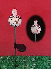 Santa lawn/Garden Decoration, ceramic Solar Light,LED colour changing, H96cm