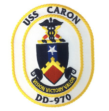 "5"" NAVY DD-970 USS CARON EMBROIDERED PATCH"