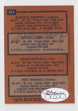 1978 TOPPS DENNIS LAMP RC ROOKIE AUTO AUTOGRAPH SIGNED CARD #711 JSA