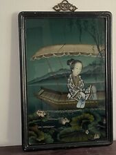 Chinese Antique Portrait Reverse Painting on Glass
