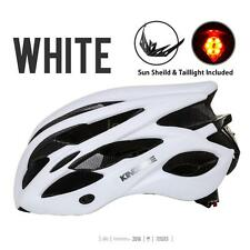 Unisex Cycling Mountain Bike Bicycle Helmet LED Rear Light 20 Vents White M8Z6