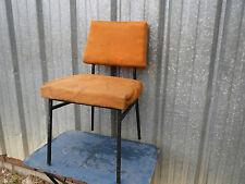chaise ancienne design vintage 1950 tissus orange années 50 60 era Guariche