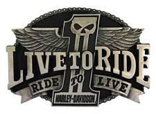 Harley-Davidson Men's #1 Live To Ride Belt Buckle Chrome HDMBU10400