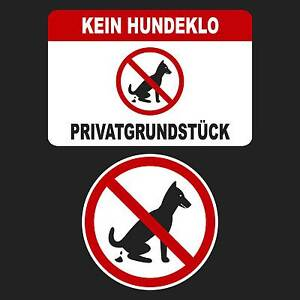 Kein Hundeklo Hundetoilette Schild Privatgrund Hinweis Verbot Hundekot Hundehauf
