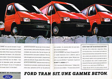 PUBLICITE ADVERTISING   1987   FORD  TRANSIT LASER      GAMME BETON ( 2 pages)