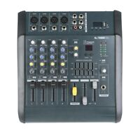 Professional 4 Channel Powered Mixer Power Mixing Amplifier W/USB Slot Amp 16DSP