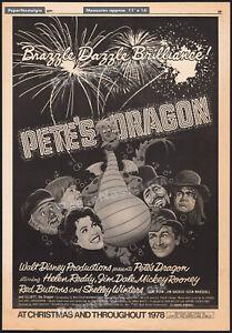 PETE'S DRAGON__Original 1977 Trade Print AD / poster__Helen Reddy_Charlie Callas