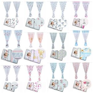 Nursery 2pc bedding set cotton for Junior bed with matching decorative curtains