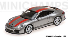 Minichamps 870066221- Porsche 911R – 2016 – Silver W/ Red Rayas And Negro Wr