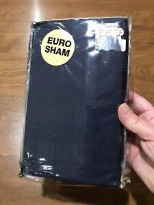 Ralph Lauren Lauren Suite Glen Navy Blue One Euro European Sham MSRP $142