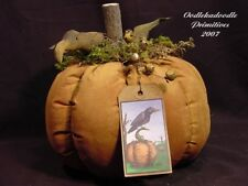 Primitive Fall Pumpkin Crow Harvest Table Topper Holiday Tuck Autumn PATTERN