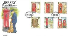 JERSEY 2002 POSTAL HISTORY (1ST) SET FIRST DAY COVER