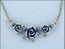 Jugendstil Collier Anhänger Rosen 925er Silber Schmuck Art Nouveau - Neu