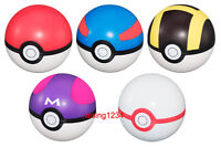 Set 5 pcs Bandai Pokeball Pokemon Soft Ball Gashapon Master Premier Great Ultra