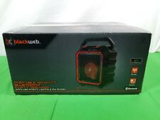 Blackweb 40W Watt Portable BLUETOOTH PARTY SPEAKER w LED Party Lights FM Radio