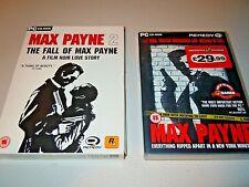Max Payne 1 & 2 (PC: Windows, 2001) UK issue Originals VGC