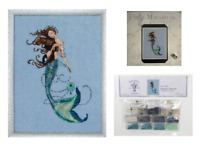 MIRABILIA Cross Stitch PATTERN & EMBELLISHMENT PACK Renaissance Mermaid MD151