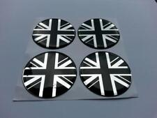 50mm (U7) lega ruota centro centro distintivi Union Jack GB Bandiera UK (BC)