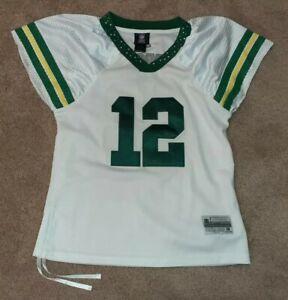 Reebok Green Bay Packers Aaron Rodgers Womens Rhinestone Jersey Small S NFL
