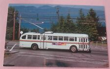 Vancouver Transit T48A Trolley Coach No 2371 on 4th Ave in 1981 Train Postcard