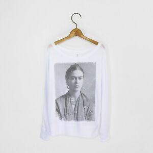 Women's 'Frida Kahlo' Off Shoulder Long Sleeve T-Shirt