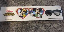 VINTAGE 1988 DISNEY MICKEY MOUSE AUTO-SHADE WITH BLACK SUNGLASSES CLIP