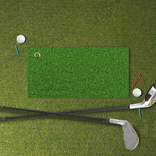 "25"" x 12"" GOLF TOWEL GREEN GRASS DESIGN MICROFIBER ATTACH TO BAG ACCESSORY"