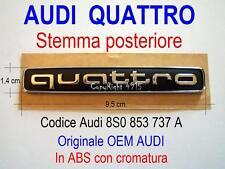 AUDI A1 A2 A3 A4 A5 TT S QUATTRO FOUR 8S0853737A Post Stemma Badge Emblem Fregio