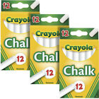 Crayola Non-Toxic Chalk, White, 3 Boxes of 12 (51-0320)