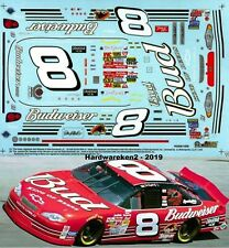 NASCAR DECAL # 8 BUDWEISER 2002 MONTE CARLO DALE EARNHARDT Jr. 1/24 SLIXX