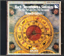 BACH Two-Part, Three-Part Inventions KENNETH GILBERT CD Harpsichord Cembalo