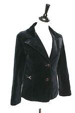 Vintage Black Velvet Jacket- 1970s - Runkun - UK 8/10